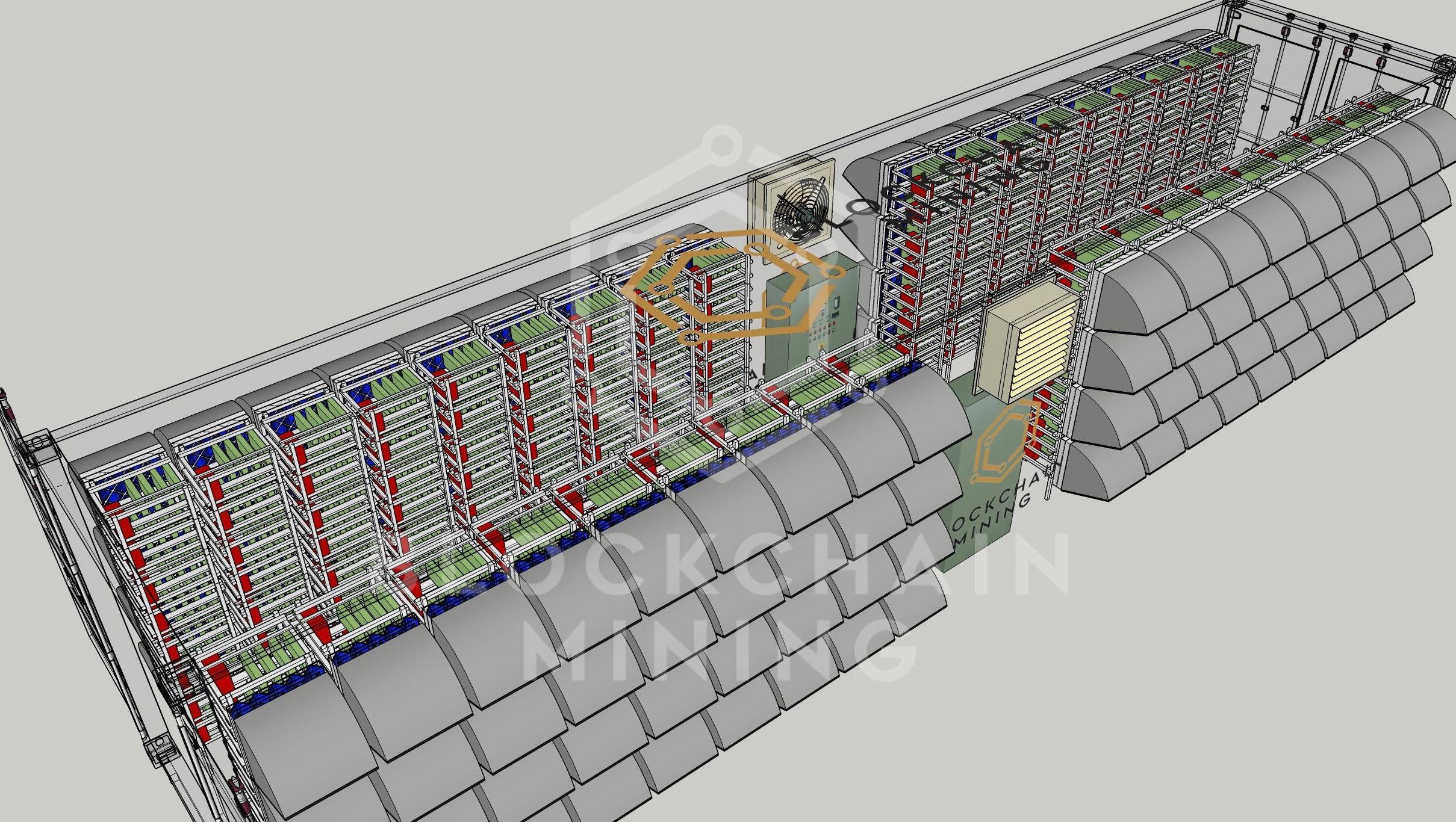 Container 40 transparente